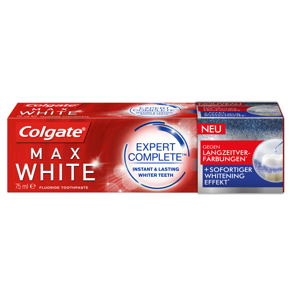 Colgate MaxWhite Expert Complete Verpackung