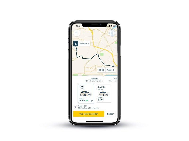 mytaxi Flottentypen App
