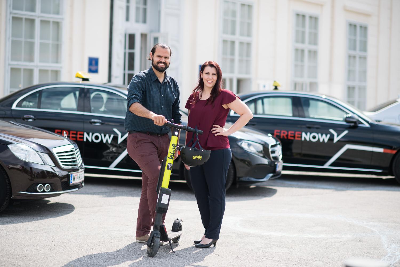 FREE NOW_Thiago Ibrahim und Sarah Lamboj_(c) Michael Gruber