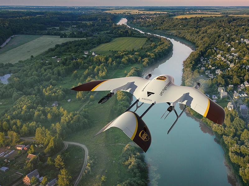 UPS Wingcopter Drohne im Flug (c) UPS_Beitragsbild